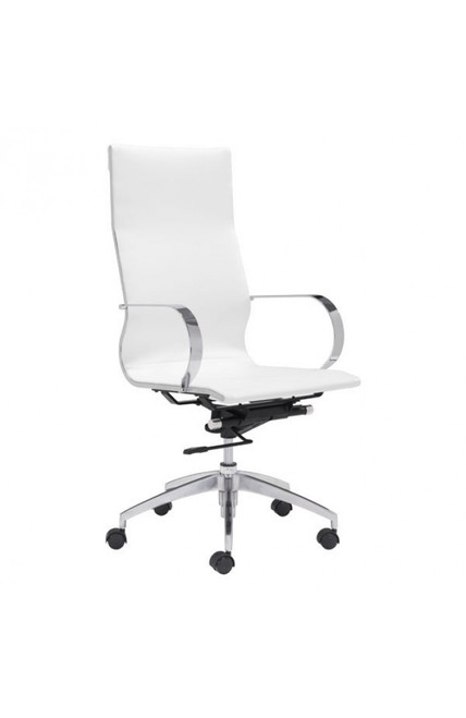 Zuo Modern Glider High Back Office Chair White