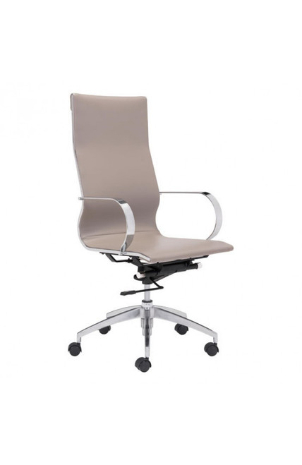 Zuo Modern Glider High Back Office Chair Taupe