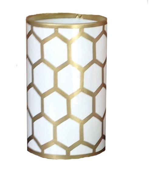 Dana Gibson Gold Mesh Pen Cup