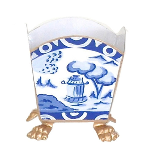 Dana Gibson Canton In Blue Cachepot - Large