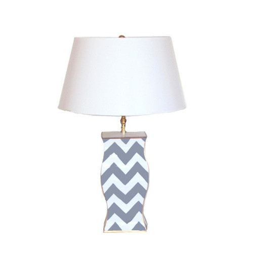 Dana Gibson Grey Bargello Lamp