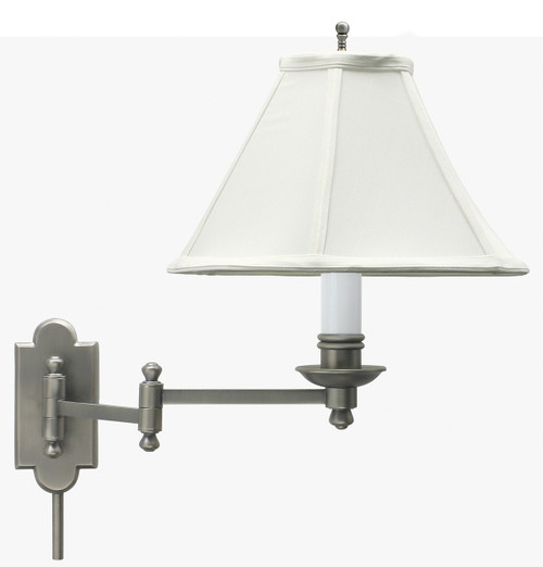 House of Troy Club Wall Swing Arm Lamp - Antique Silver