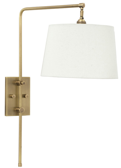 House of Troy Crown Point Adjustable Downbridge Wall Lamp - Antique Brass