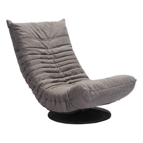 Zuo Modern Down Low Swivel Chair Gray