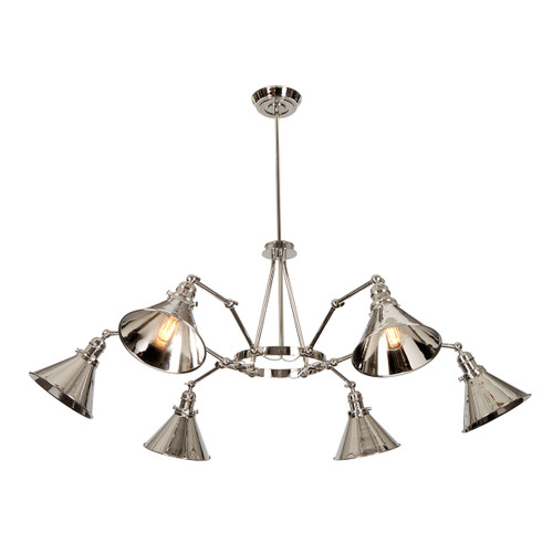 Provence 6 Arm Chandelier
