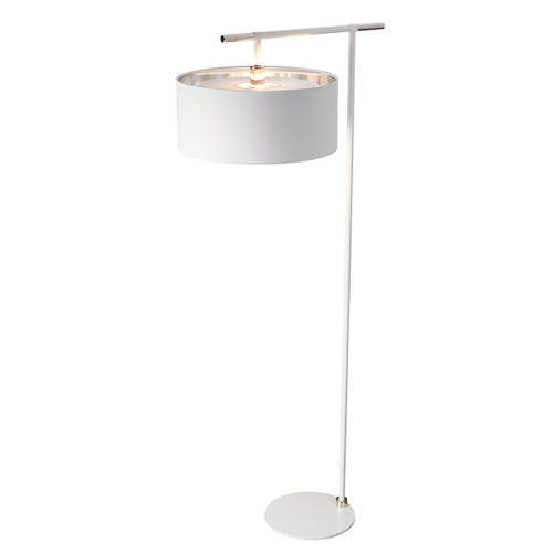Elstead Lighting Balance White/Polished Nickel Floor Lamp