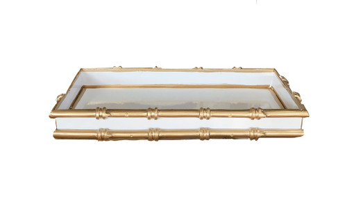 Dana Gibson Bamboo in White Letter Tray