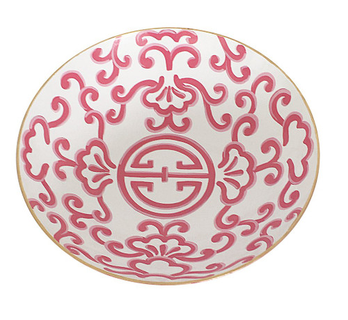 Dana Gibson Pink Sultan Bowl, Large