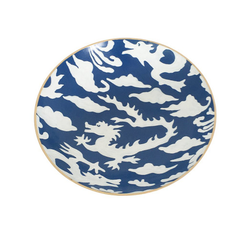 Dana Gibson Blue Dragon Bowl, Medium