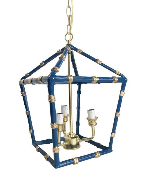 Bamboo Lantern in Navy