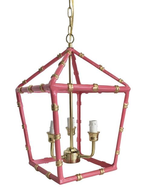 Bamboo Lantern in Pink