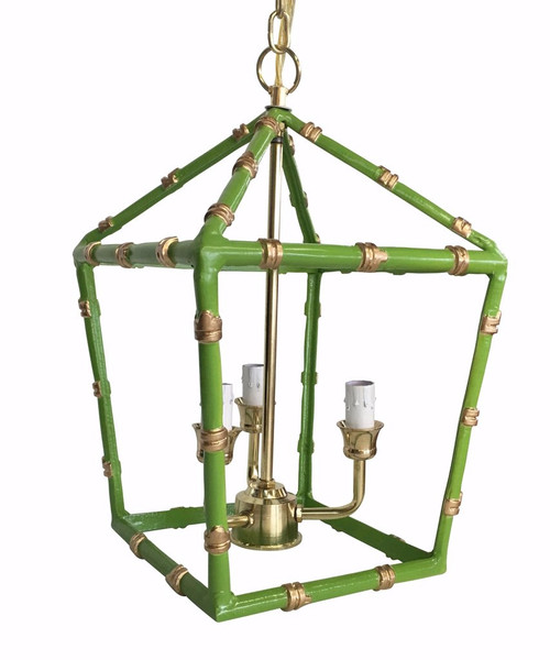 Bamboo Lantern in Green