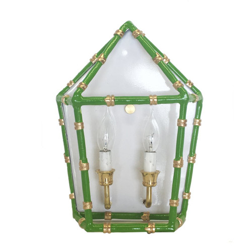 Dana Gibson - Bamboo in Green Sconce