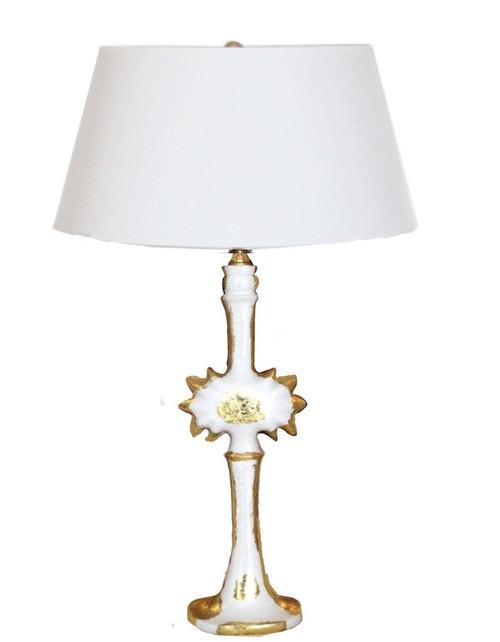 Dana Gibson Salutation Lamp in White
