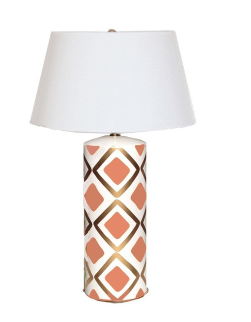 Dana Gibson Haslam Lamp in Salmon
