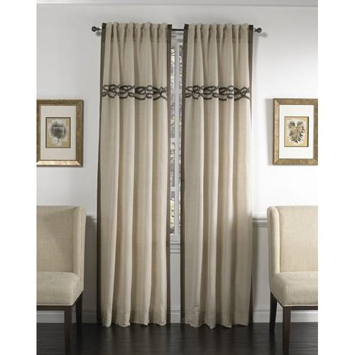 Cloud9 Design Celle Curtain Panel 12466PN-WH