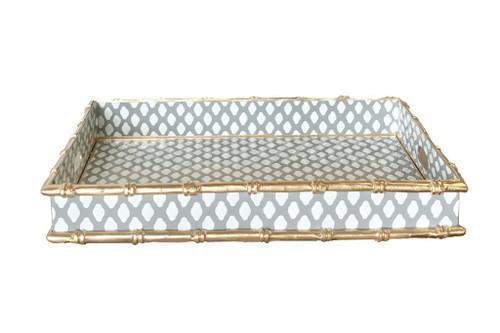 Bamboo Bar Tray in Grey Parsi