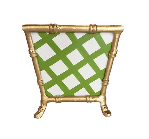 Dana Gibson Bamboo in Green Lattice Cachepot