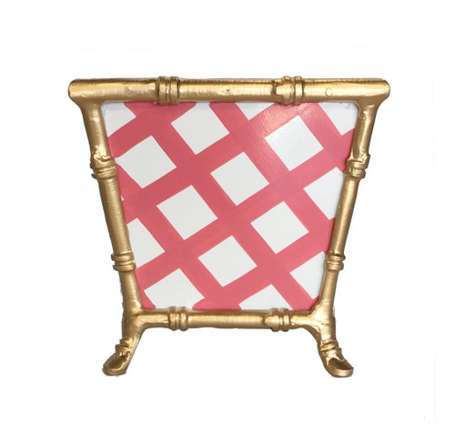Dana Gibson Bamboo in Pink Lattice Cachepot