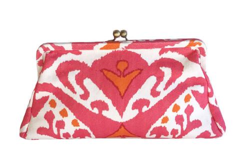 Dana Gibson Pink Ikat Clutch