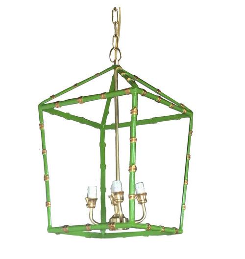 Large Bamboo Lantern in Green