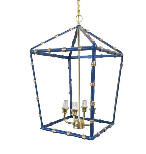 Large Bamboo Lantern in Navy