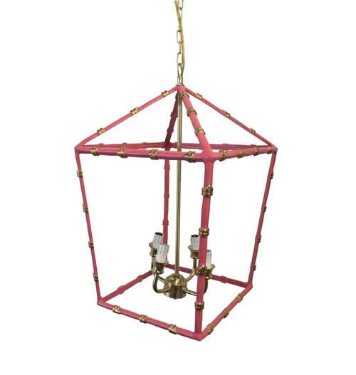 Large Bamboo Lantern in Pink