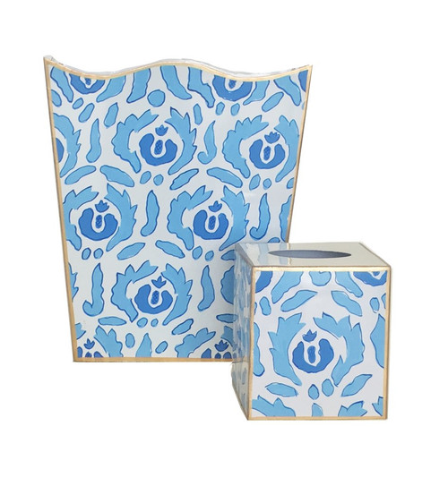 Beaufont in Blue Wastebasket