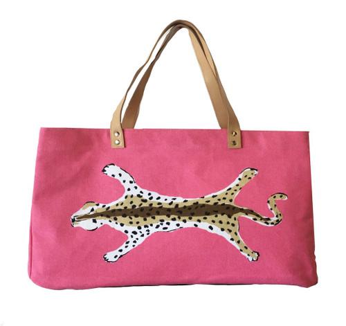 Pink Leopard Shoulder Tote