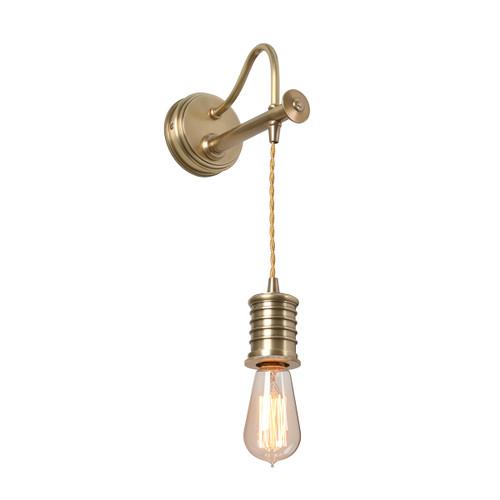 Douille 1 Light Wall Light – Aged Brass