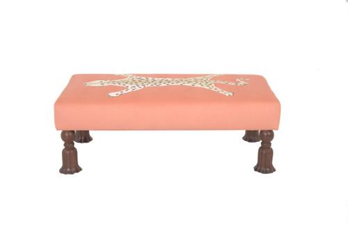 Islesboro Bench in Orange Leopard