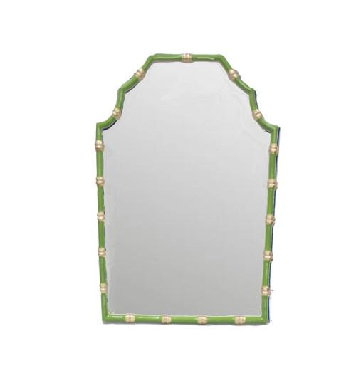 Bamboo Mirror in Green