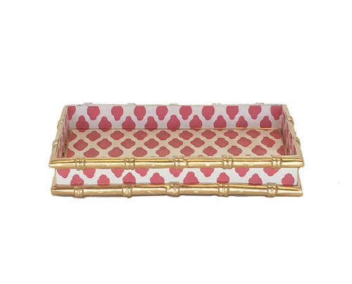 Bamboo in Parsi Pink Letter Tray