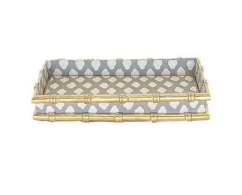 Bamboo in Parsi Grey Letter Tray