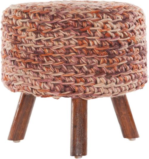 IDA-40404 Rust Mix Handmade Contemporary Stool
