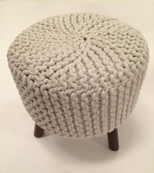 IDA-40406 White Handmade Contemporary Stool