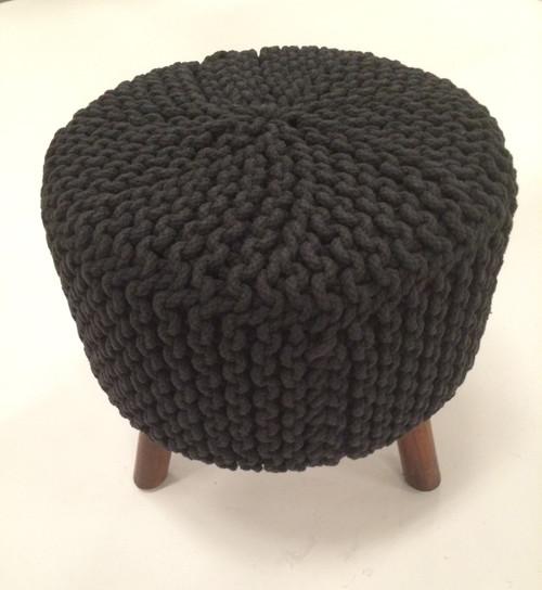 IDA-40408 Black Handmade Contemporary Stool