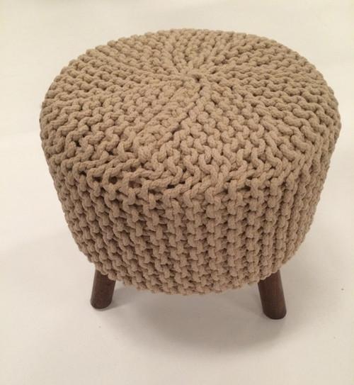 IDA-40410 Beige Handmade Contemporary Stool