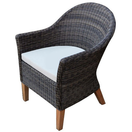 Vienna Dining Armchair (Brown Wicker)