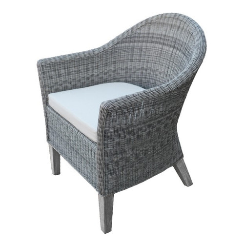 Three Birds - Vienna Dining Armchair (Gray Wicker)