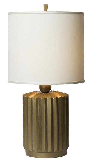 Thumprints Starburst Brushed Gold Table Lamp