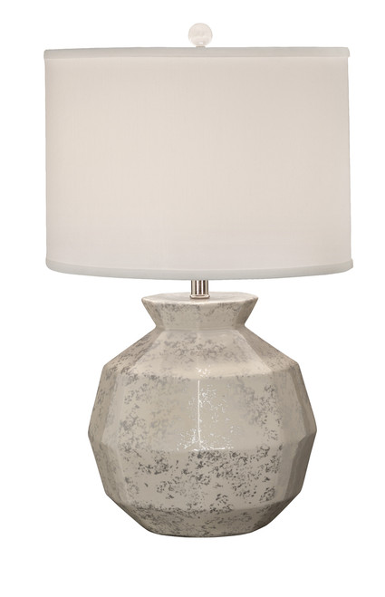 Thumprints Gem Silver and White Table Lamp