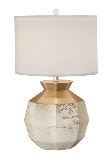 Thumprints Gem Marbled Gold Table Lamp
