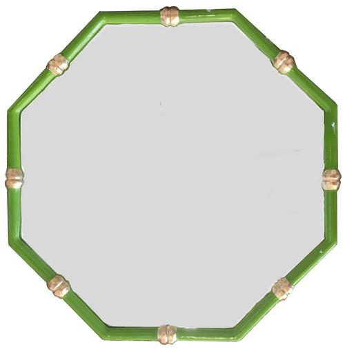Dana Gibson - Bamboo Mirror in Green.