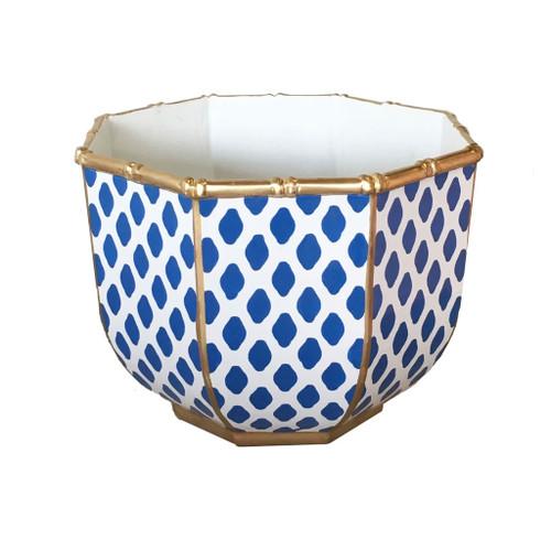 Dana Gibson - Large Bamboo Bowl in Parsi Navy