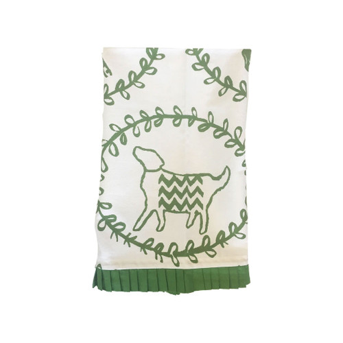 Dana Gibson - Green Dog Tea Towel
