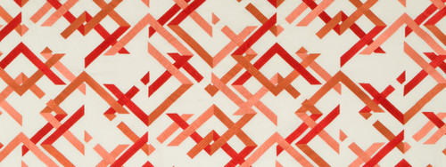Abstract Fret - Coral Fabric by Beacon Hill