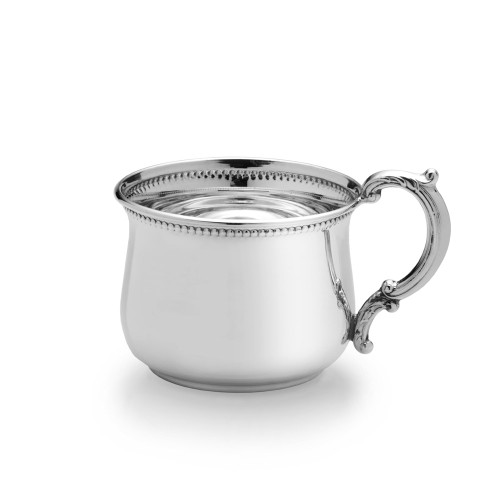 Empire Silver Beaded Pot Belly Baby Cup
