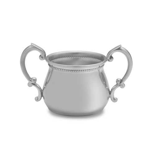Empire Silver  Double Handle Beaded Baby Cup