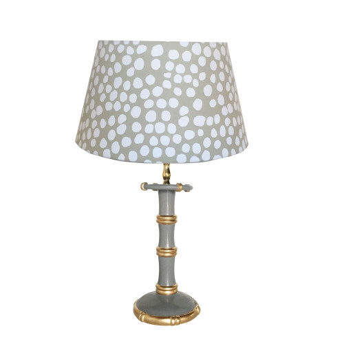 Dana Gibson - Bamboo Candle Stick Lamp in Grey